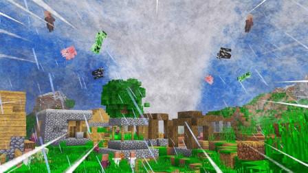 我的世界小宝搞笑视频 第一季 我的世界 百分百玩家没有见过的天气 超级龙卷风