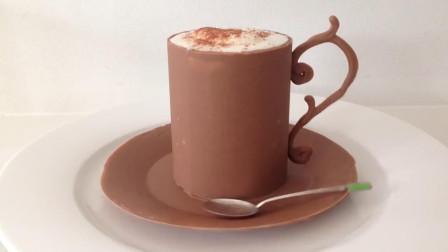巧克力做的杯子你见过吗?一杯慕斯就要200元,创意占7分