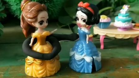 白雪为了救贝儿公主又受伤了,贝儿公主说用魔法棒可以救白雪,你愿意救她吗?