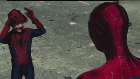 """漫威:男孩替蜘蛛侠站出来,结果蜘蛛侠真来了""""谢谢你替我站出来"""""""