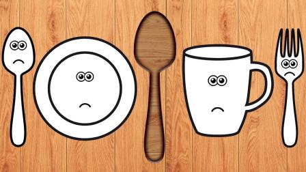 寓教于乐!认餐具学颜色英语单词 儿童益智英语早教玩具