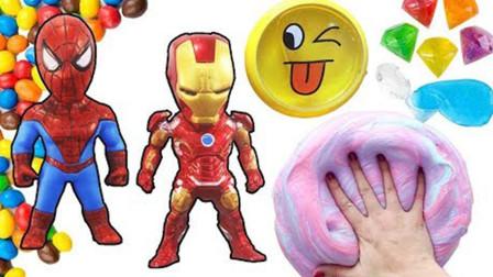 这是超级英雄的钢铁侠和蜘蛛侠么?他们怎么变成这样了?