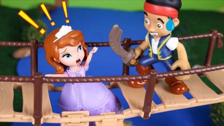 Help!苏菲亚快要掉水里了,这个强盗是要伤害她还是就她?