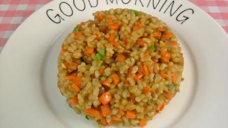 减肥食谱糙米炒饭的做法,炒饭怎么做好吃营养高,炒饭这么做不用放盐好吃