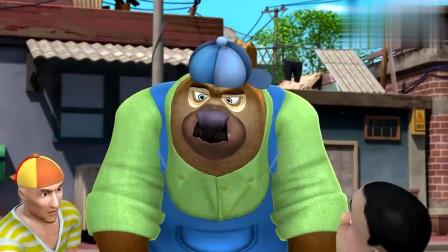 熊出没:熊大熊二乔装进城,原来是为了买烧烤,这烧烤熊都馋
