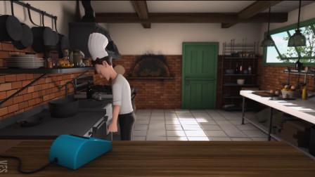 搞笑短片《pizza》,披萨小哥用头磕柜子,只求外卖订单多一些