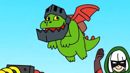 皇室战争搞笑动画:不可思议,超级骑士竟是建筑工人做的?