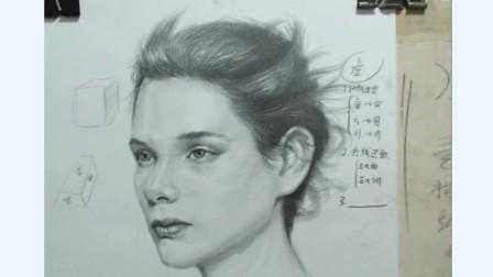 素描人像眼睛刻画,一个小小的留白技巧,立马让你的人像活起来!