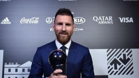 梅西力压范戴克C罗 当选国际足联2019世界足球先生!