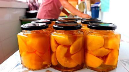这才是黄桃罐头的正确做法,果肉香甜爽口有技巧,方法超简单