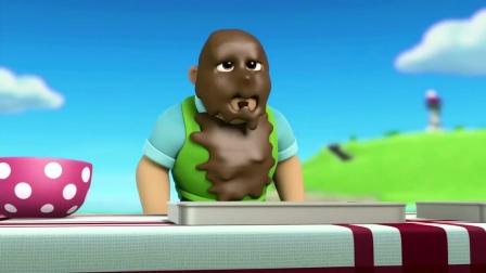 汪汪队:狗狗们来帮波特先生,毛毛把蛋糕糊喷到了波特先生身上!