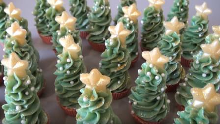 外形超可爱的小圣诞树纸杯蛋糕,可千万别误食了,它们其实是香皂!