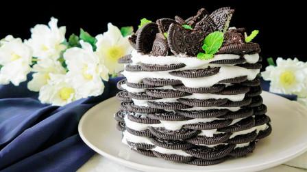 用饼干做出高颜值蛋糕,不用烤箱也能做,你get到了吗?
