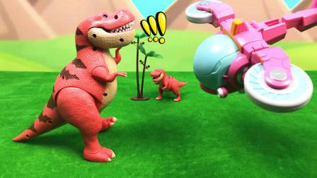 猪猪侠恐龙日记玩具之超大霸王龙和巡航机