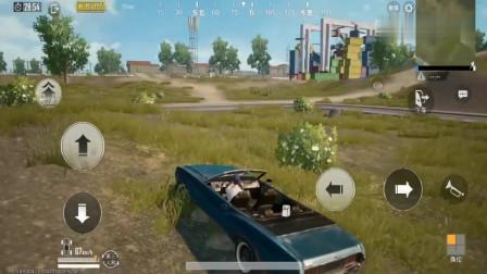 刺激战场:新更新的敞篷小轿车跟野马汽车,爬山动力十足!