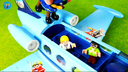 旺旺探险队,直升飞机客机,儿童玩具车亲子互动,悠悠玩具城