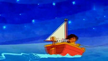 爱探险的朵拉:毛线团卡在了蚌壳上,朵拉该怎么脱离困境呢?