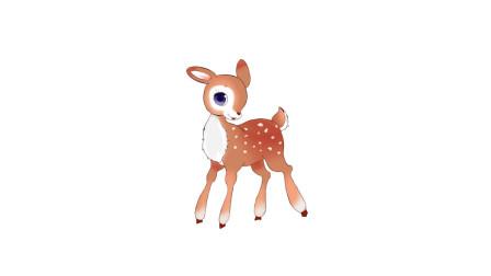 暖光绘画课堂,可爱的梅花鹿简笔画教程,你看过小鹿斑比吗