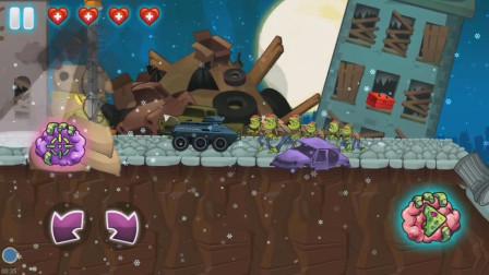 选辆装甲坦克撞击破坏城市的僵尸吧!僵尸游戏