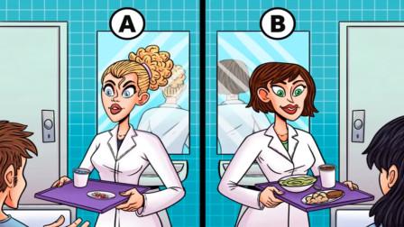 脑力测试:左还是右?两个端着餐盘的女人中谁是机器人?