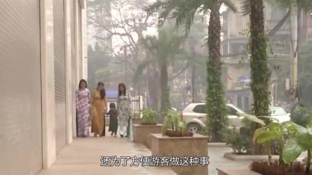 越南女人都穿奥黛,除了好看,还为了方便游客做这种事