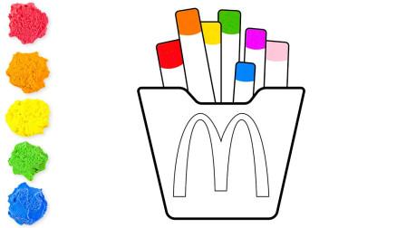 真美味!用太空沙定制的麦丹劳薯条,你想吃吗?儿童手工太空沙玩具