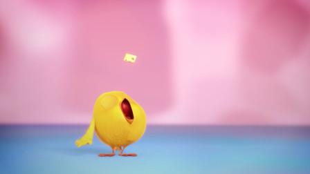 小鸡Jaki:这奶酪怎么还会跑,萌鸡想吃真不容易,各种花样都用了