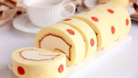 它的做法跟戚风蛋糕的一样!快来学学美味的胖胖蛋糕卷!