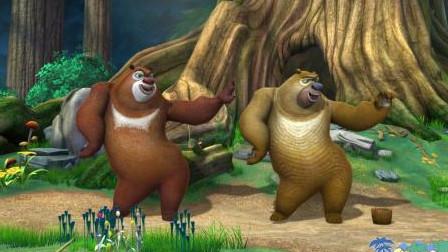 熊出没大冒险:熊二控制开关,熊大坐飞艇!