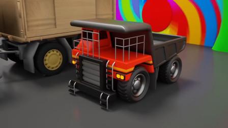 乐享知识乐园教你认识从草莓堆里变出的红色自卸卡车