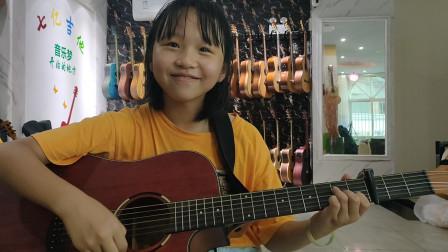 朱玥玥同学学习吉他视频《红昭愿》