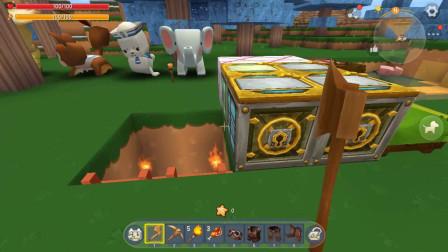 迷你世界:矿洞生存,欣然拥有的矿石多到用不完,真是太富了!