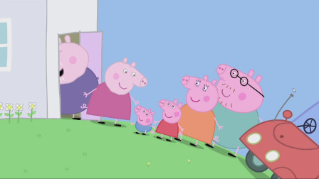 小猪佩奇:猪奶奶家养了新宠物 它是恐龙吗?
