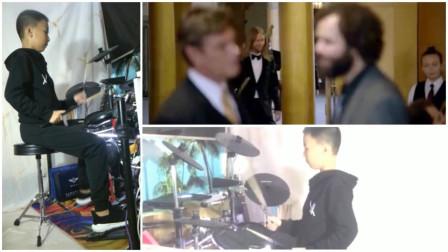 《Sugar》架子鼓演奏Maroon5(魔力红美国摇滚乐队)拍的突袭婚礼现场送惊喜 MV