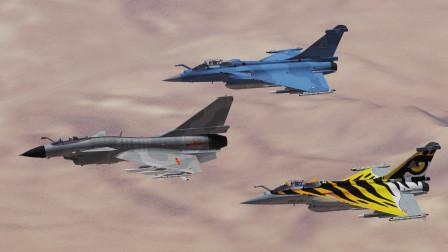 一架歼10,跟2架阵风战斗机对战!歼10能否以一敌二?战争模拟