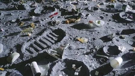 """荒无人烟的""""月球"""",为何却有近200吨垃圾?是外星人留下的?"""