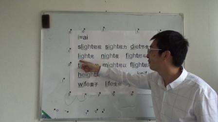 零基础英语速成,6级:5分钟学会5百单词(3)字母i