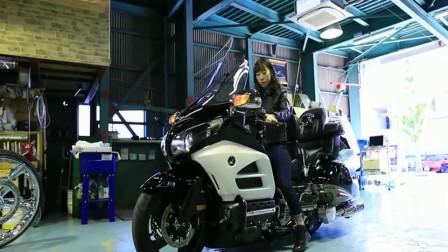 价值45万的本田金翼摩托车,底盘升起的瞬间,才知道什么是霸气