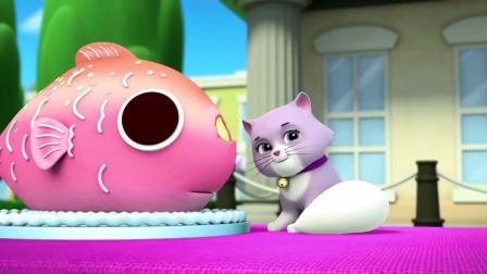 汪汪队:猫咪吃了阿宝船长的蛋糕,阿宝船长说猫咪很喜欢!