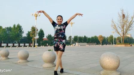 好心情蓝蓝广场舞原创【150】活力动感现代舞DJ【曾经被爱正背面】附教学