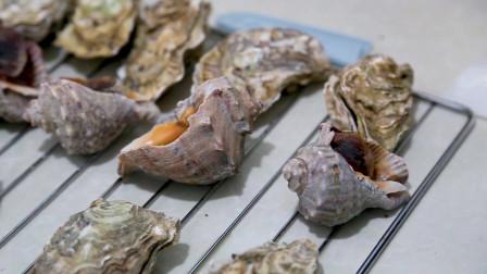 烤箱做美食海螺,新鲜的海螺,烤出来美味极了