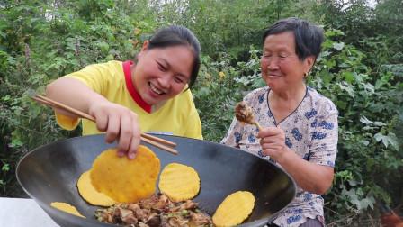胖妹做特色家乡菜,大铁锅吃才够味,汤鲜味美,奶奶这次差点吃撑