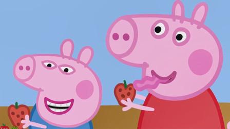 越看越有趣!小猪佩奇在吃什么水果?为何表情那么邪恶?