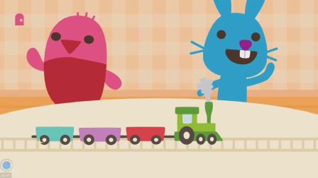 赛哥迷你找小伙伴玩拼装火车,建房子!游戏