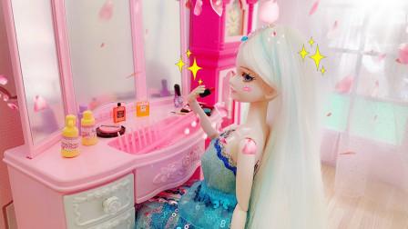 叶罗丽故事 冰公主的日常 起床跑步洗漱化妆美美哒