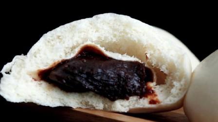 想吃豆沙馒头不用买,教你简单的做法,只需一次发酵,松软香甜
