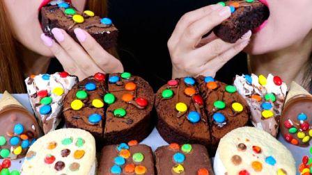 ☆ Kim&Liz ☆ M&M's巧克力豆甜点派对(巧克力布朗尼蛋糕、甜筒冰淇淋、奶油巧克力派、软曲奇冰淇淋三明治、Hostess布朗尼小蛋...