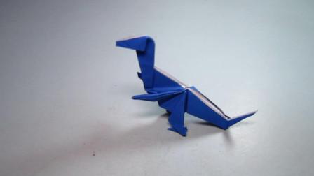 手工折纸小动物,霸王龙的折法,霸气又易学