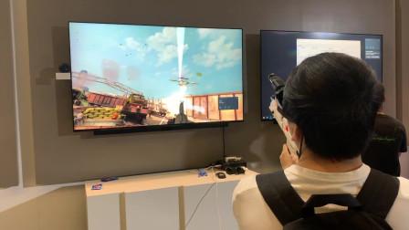 华为VR眼镜现场体验,便于携带的随身VR设备,仅比矿泉水瓶大一点