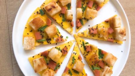 教你用馒头制作披萨饼,做法简单易学,美味又健康,不用再买了